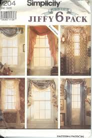 Curtain Sewing Patterns Simple Simplicity Window Treatment Covering Curtains Drapes Home Decor