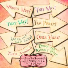 Alice In Wonderland Decorations Alice Arrows Alice In Wonderland Party Decoration Shabby Chic