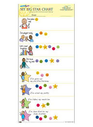 Reusable Reward Charts For Toddlers Shop The Victoria Chart Company My Big Star Reward Chart