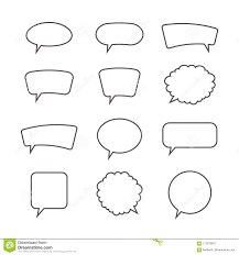 Template For A Speech Outlined Speech Bubbles Templates Vector Illustration