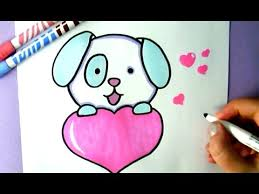 Small Picture HOW TO DRAW A CUTE PUPPY WITH A LOVE HEART YouTube