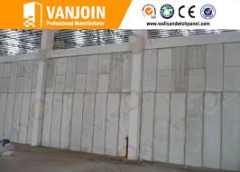 windproof strong precast concrete wall panels for steel structure buildings