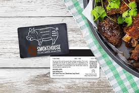 q smokehouse gift card with magnetic stripes