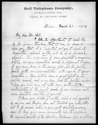 letter from thomas sanders to alexander graham bell  letter from thomas sanders to alexander graham bell 20 1878 library of congress