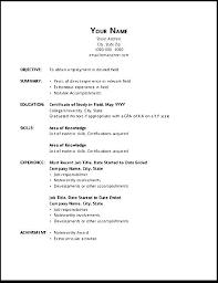 Openoffice Resume Template Beauteous Simple Resume Template Resume Templates For Open Office Simple
