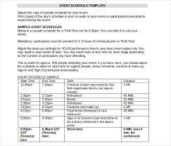 11 Event Itinerary Template Doc Pdf Psd Free Premium Templates