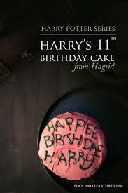 Harrys 11th Birthday Cake From Hagrid In Literature