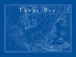 Tampa Bay Marine Chart Marine Artist John Battista De Santis Nautical Art