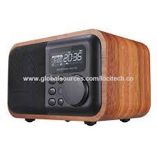 china wood clock radios with bluetooth lcd display 4w wood box with usb