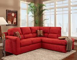 top red living room casual. Red Sectional With Chaise And Decorative Pillows Grey Area Rug Round Glass Top Side Table Living Room Casual E