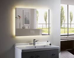 Bathroom Top Led Battery Operated Bathroom Mirrors Cool Home
