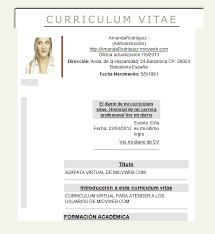 Modelo De Curriculum Vitae Word Gratis Modelo De Curriculum Vitae