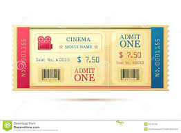 Movie Ticket Template Free Download Movie Ticket Stock Vector Illustration Of Entertainment 24 21
