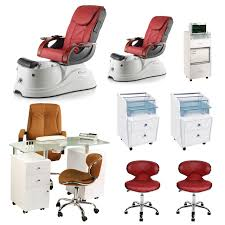 red 2 pacific ax luxury nail salon furniture package with manicure station image