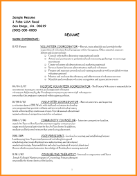 Collection Of Solutions 8 Sample Resume With Volunteer Experience