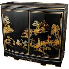 black laquer furniture. Oriental Furniture Black Lacquer Japanese Slant Front Cabinet Laquer S