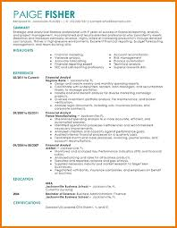 Gallery Of Financial Analyst Resume Examples