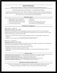 Resume Electronic Assembler Resume Sample Electronics Technician
