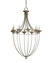 currey and company 9790 celeste 29 inch wide 1 light chandelier shown in annatto antique silver