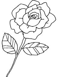 Kleurplaat Roos Bloem Liefde Kleurplatennl