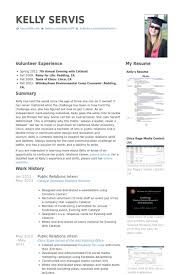 Resume Examples For Internships For Students Cool Public Relations Intern Resume Samples VisualCV Resume Samples
