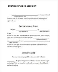 Durable Power Of Attorney Form Custom 44 Printable Power Of Attorney Forms