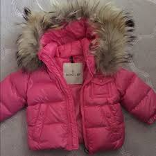 BABY GIRL MONCLER COAT GENUINE FUR COLLAR 6-9 mths