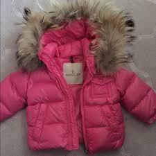 BABY GIRL MONCLER COAT GENUINE FUR COLLAR 6-9 mths