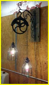 upcycled lighting ideas. Best Light Fixture Made From Old Pulley Antique Horse Yokes Pullies Pic Of Diy Rustic Lighting Upcycled Ideas