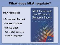 Ppt What Does Mla Regulate Powerpoint Presentation Id3457916