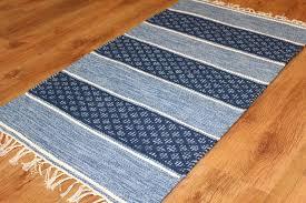 blue rag rug elegant rugs visby pertaining to 8