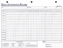 Absentee Calendar Employee Attendance Sheet Excel 2018 Tracker System Calendar Office