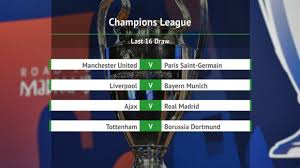 champions league last 16 draw manchester united face psg liverpool land bayern munich juventus tackle atletico madrid goal com
