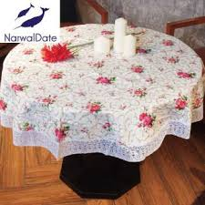 pvc waterproof oilproof round tablecloths popular embroidery table cover for round table round tablecloth for home