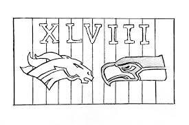 Seattle Seahawks Coloring Pages Vs Denver Broncos Coloringstar