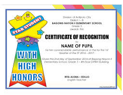 New Editable Quarterly Awards Certificate Template Deped