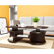 furniture of america chancelor oval coffee table in