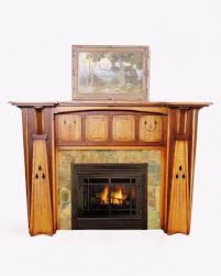delectable fireplace design and decoration using vintage stone tile fireplace surround including arts and crafts fireplace mantel and solid light oak wood
