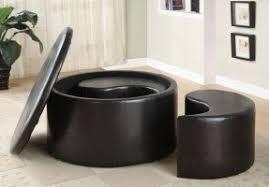 Round Ottoman Coffee Table With Storage Round Ottoman Coffee Table