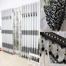 White Curtains For Living Room Black And White Living Room Curtains Black Curtain For Living Room
