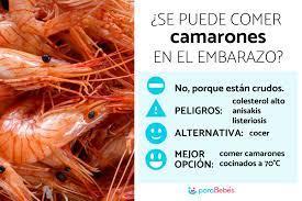 se puede comer camarones en el embarazo