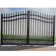 Steel Gate Design With Price Factory Price Galvanized Aluminum Wought Iron Double Swing