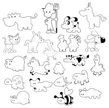 Zoo Animals Coloring Page Animal Pages For Preschoolers Cute Baby Of