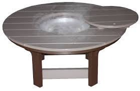 42 inch round poly wood coffee table
