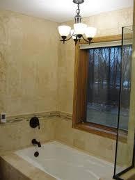 chandelier over bath tub in chaska