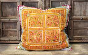 indian antique french cushions. Antique Textile Cushion With Beaded Fringe From Afghanistan Indian French Cushions A