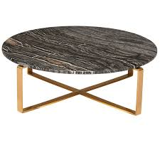 rosa marble coffee table black brushed gold