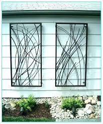 large outdoor metal wall art tree garden wal
