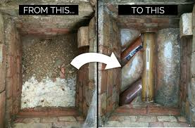 blocked drain before after