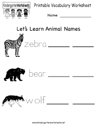 Generous Kindergarten Worksheets On Science For Kids Animal Free ...